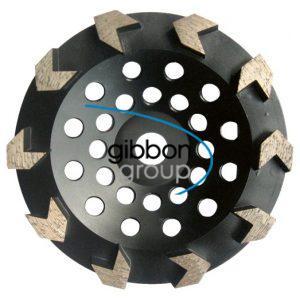 Husqvarna 180mm Med Bond G1045 12 Seg Cupwheel