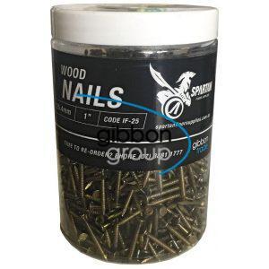 "Spartan Wood Nails. 25.4mm. 1"""